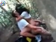 Teens skipping class to fuck in the forest