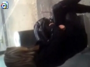 Public wanker cums on unknown girl