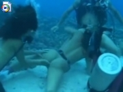 Underwater scuba diving orgy